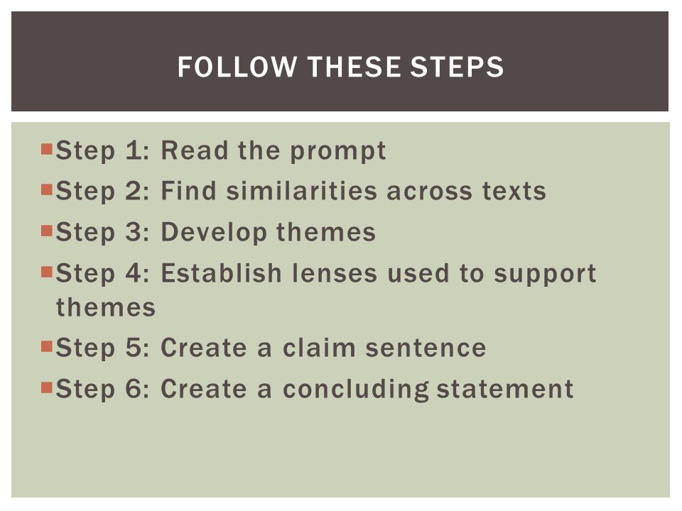 HERE'S A PROMPT TO GET US STARTED… Write an essay in which you analyze how authors use literary elements to develop a common theme.