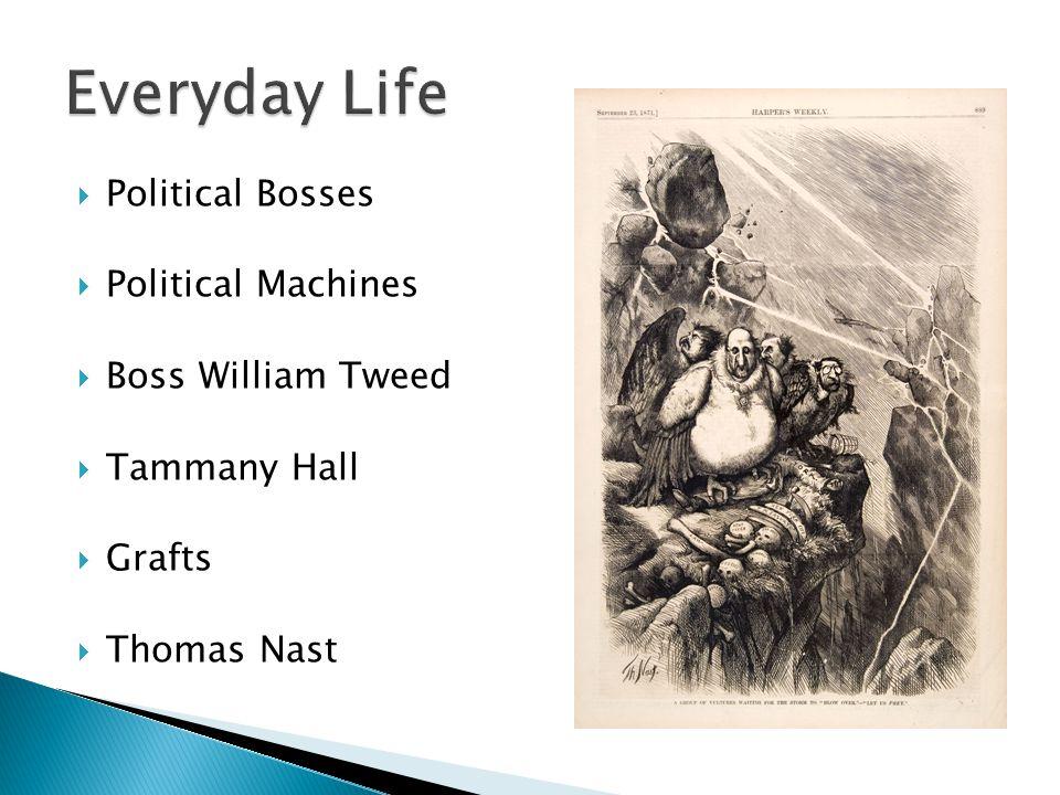  Political Bosses  Political Machines  Boss William Tweed  Tammany Hall  Grafts  Thomas Nast