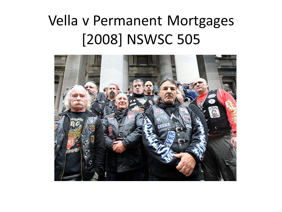 Vella v Permanent Mortgages [2008] NSWSC 505