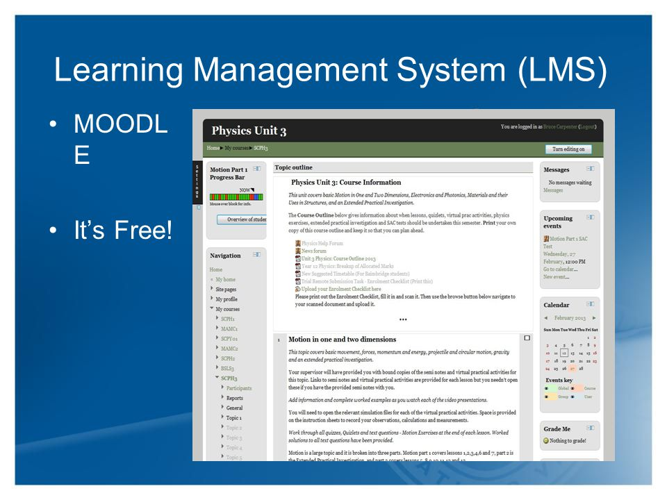 Learning Management System (LMS) MOODL E It's Free!