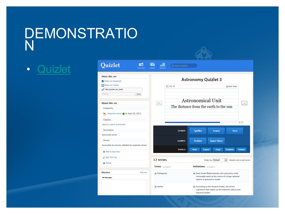 DEMONSTRATIO N Quizlet