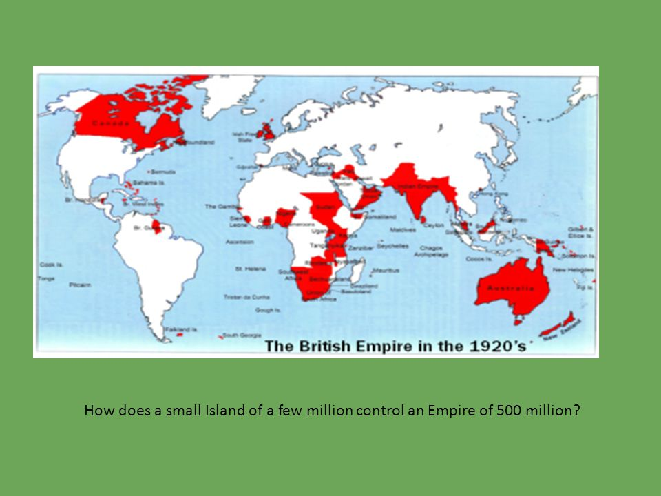 How does a small Island of a few million control an Empire of 500 million