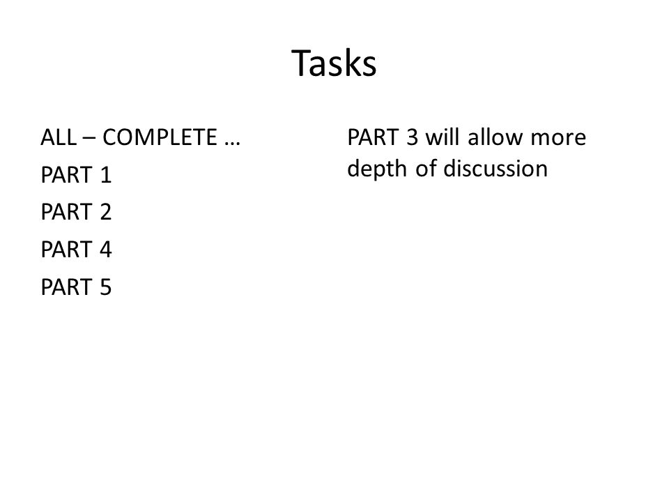 What to include in the introduction: Task 1: Complete the questions.