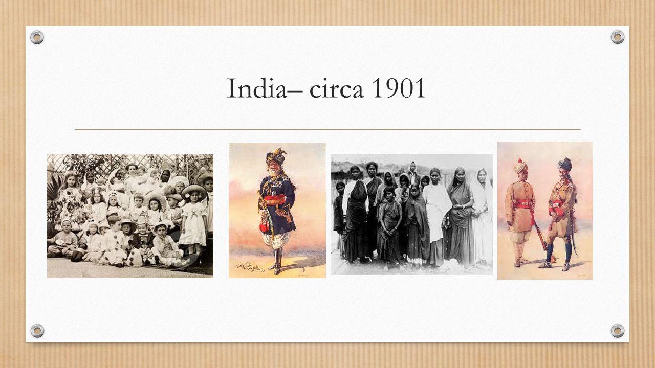 India– circa 1901