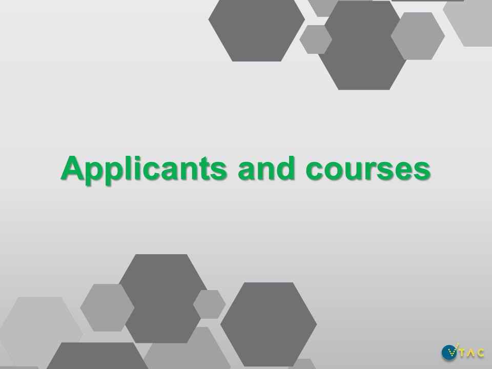 Applicants and courses