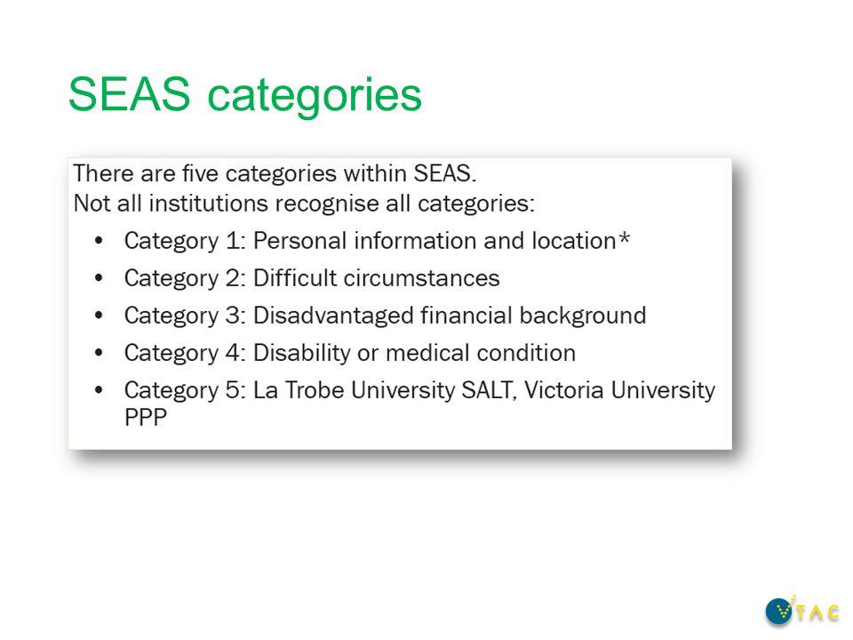 SEAS categories