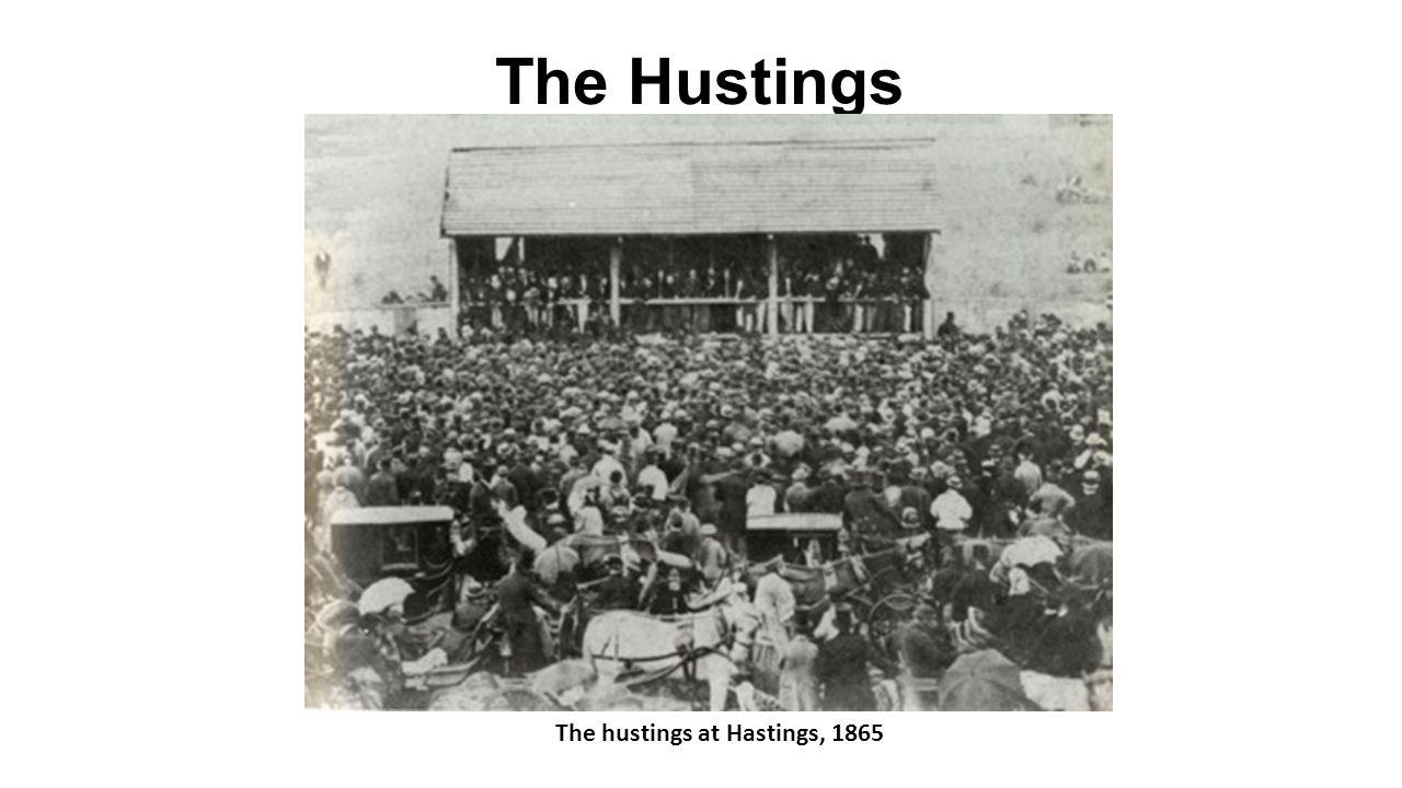 The Hustings The hustings at Hastings, 1865