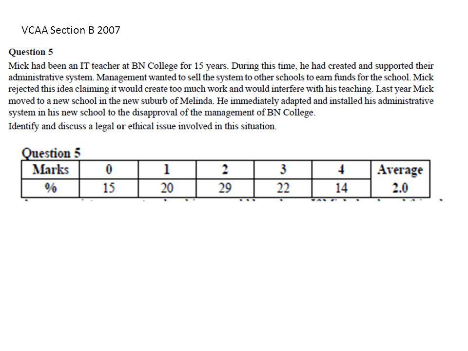 VCAA Section B 2007