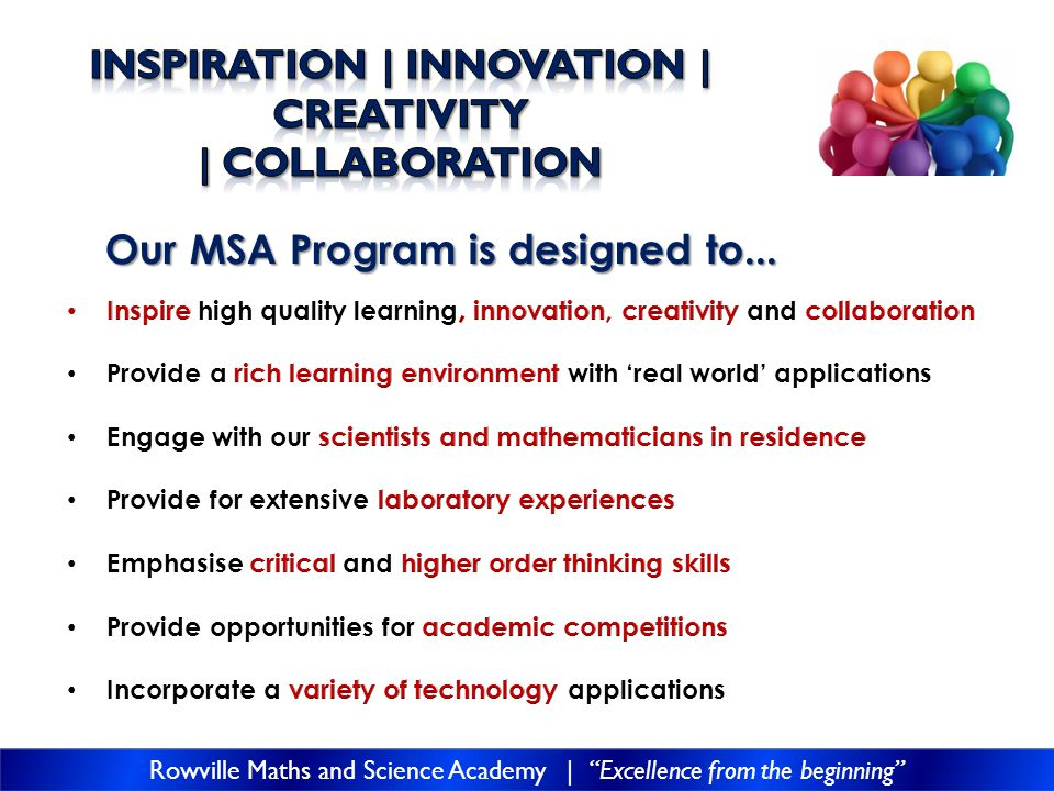 Our MSA Program is designed to...