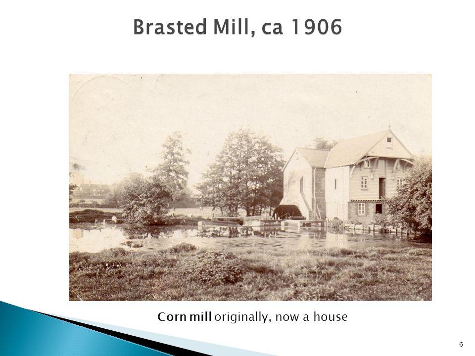  Dunton Green, Longford mill: corn  Otford mill: corn mill, then saw mill  Shoreham, upper mill: corn  Shoreham, lower mill: fulling, then paper mill  Eynsford, Wood mill: corn and/or saw mill  Farningham mill, corn, then saw mill 7