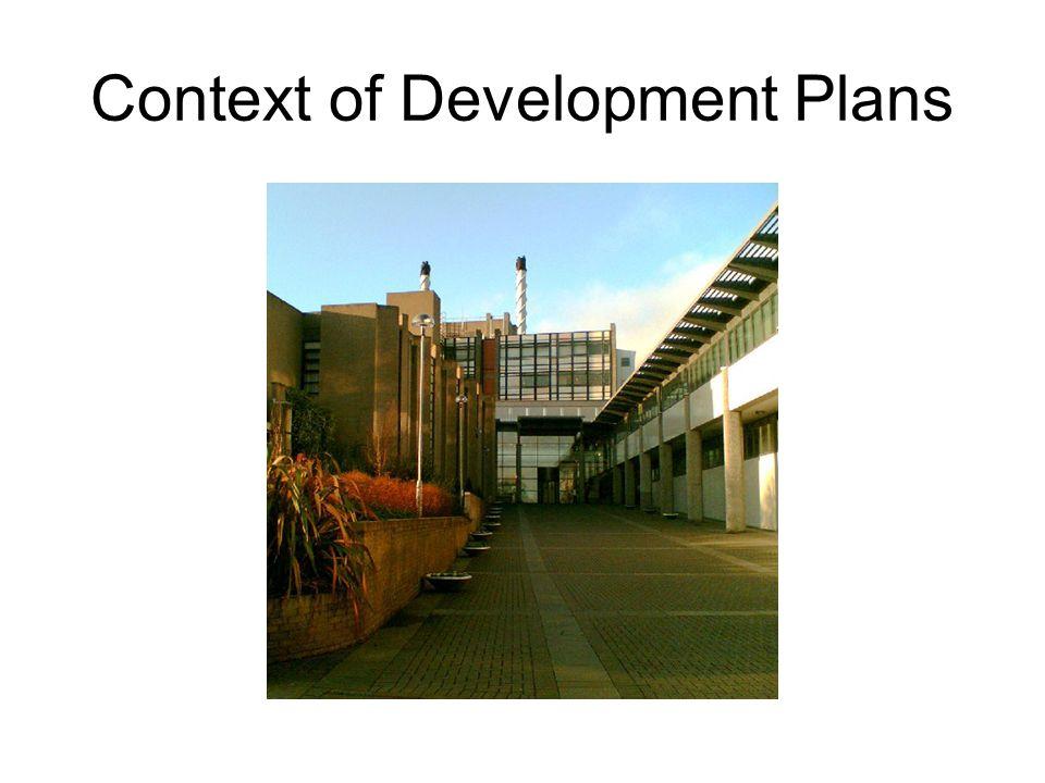 Context of Development Plans
