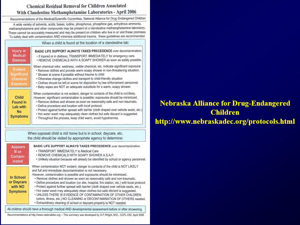 Nebraska Alliance for Drug-Endangered Children http://www.nebraskadec.org/protocols.html