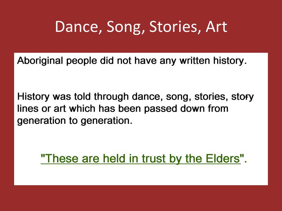 Dance, Song, Stories, Art