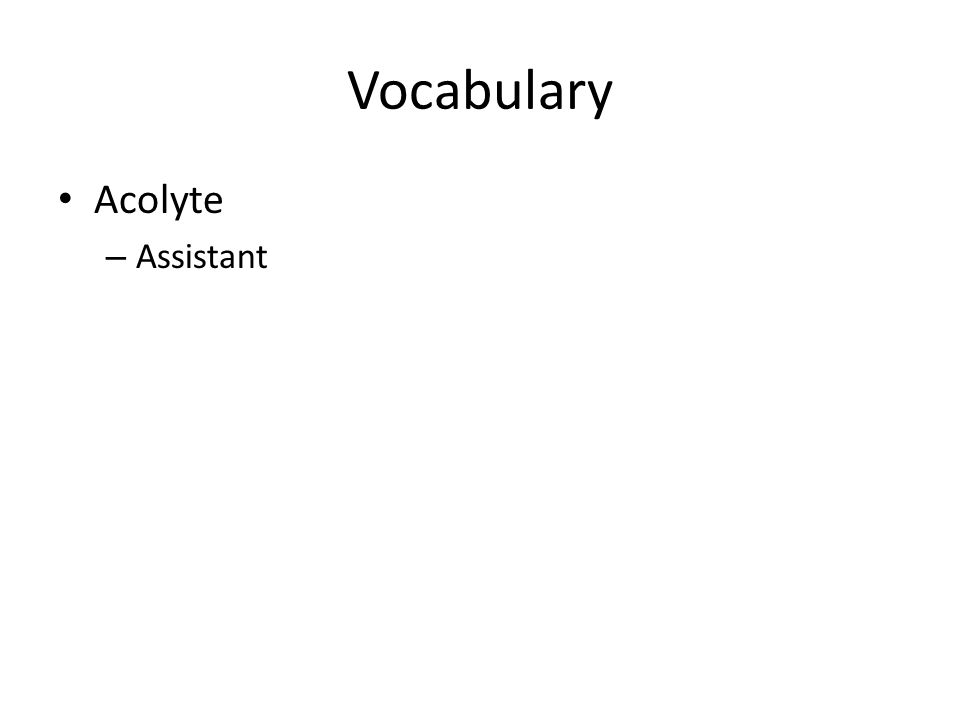 Vocabulary Acolyte – Assistant
