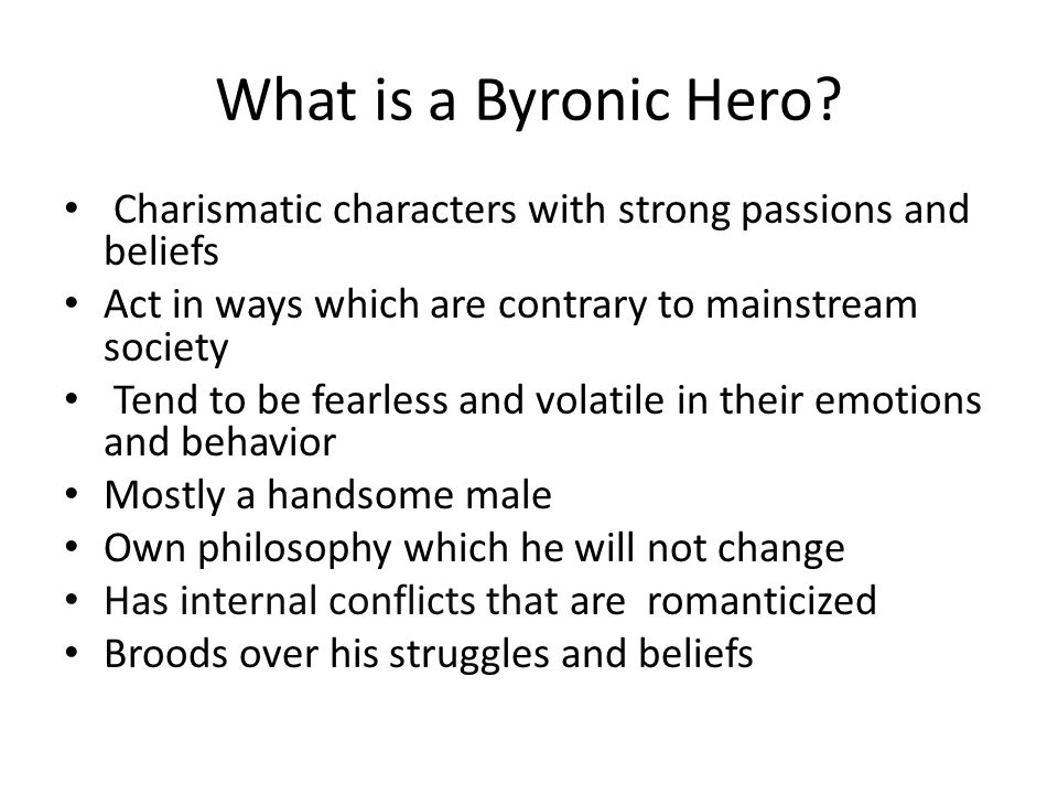 What is a Byronic Hero.
