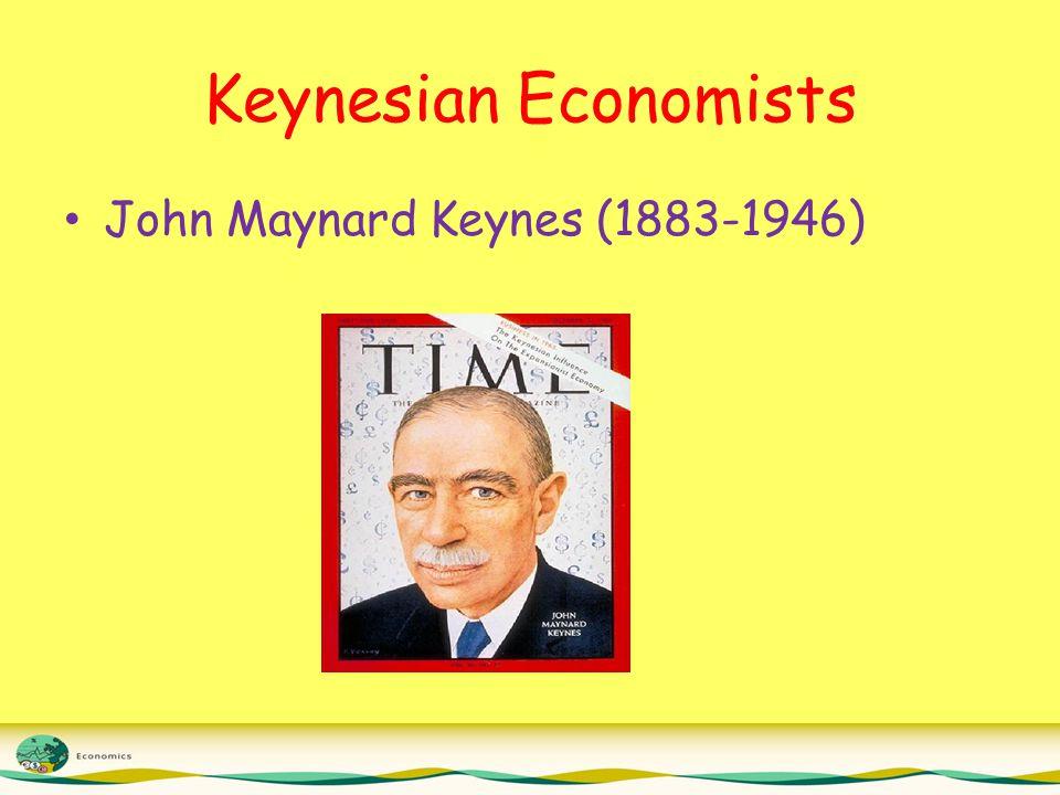 Keynesian Economists John Maynard Keynes (1883-1946)