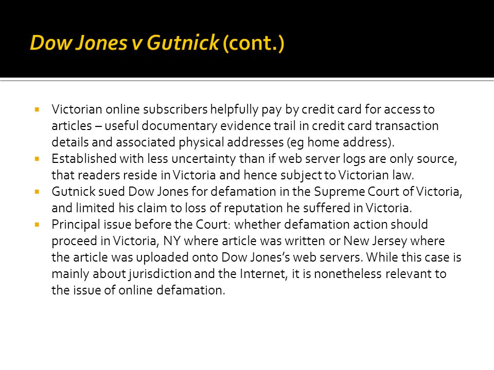  Victorian online subscribers helpfully pay by credit card for access to articles – useful documentary evidence trail in credit card transaction details and associated physical addresses (eg home address).