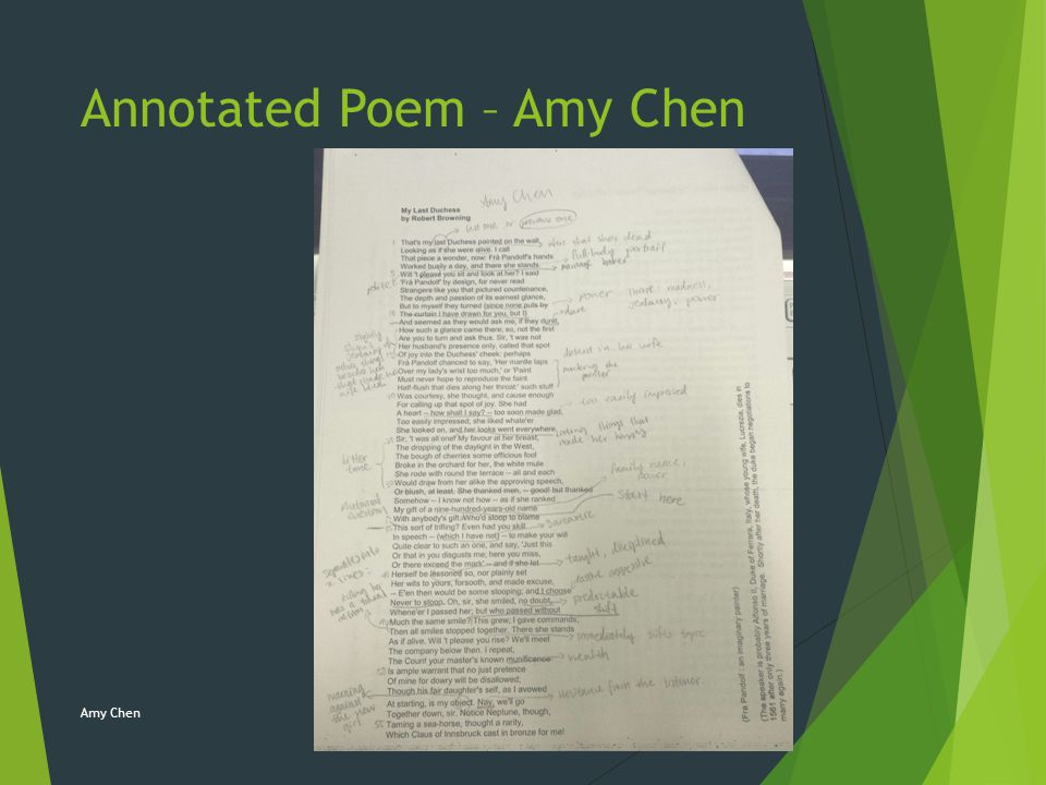 Annotated Poem – Amy Chen Amy Chen