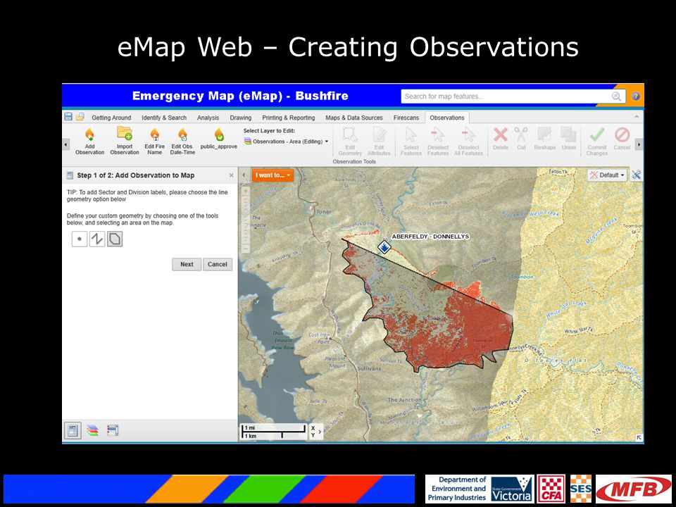 eMap Web – Creating Observations
