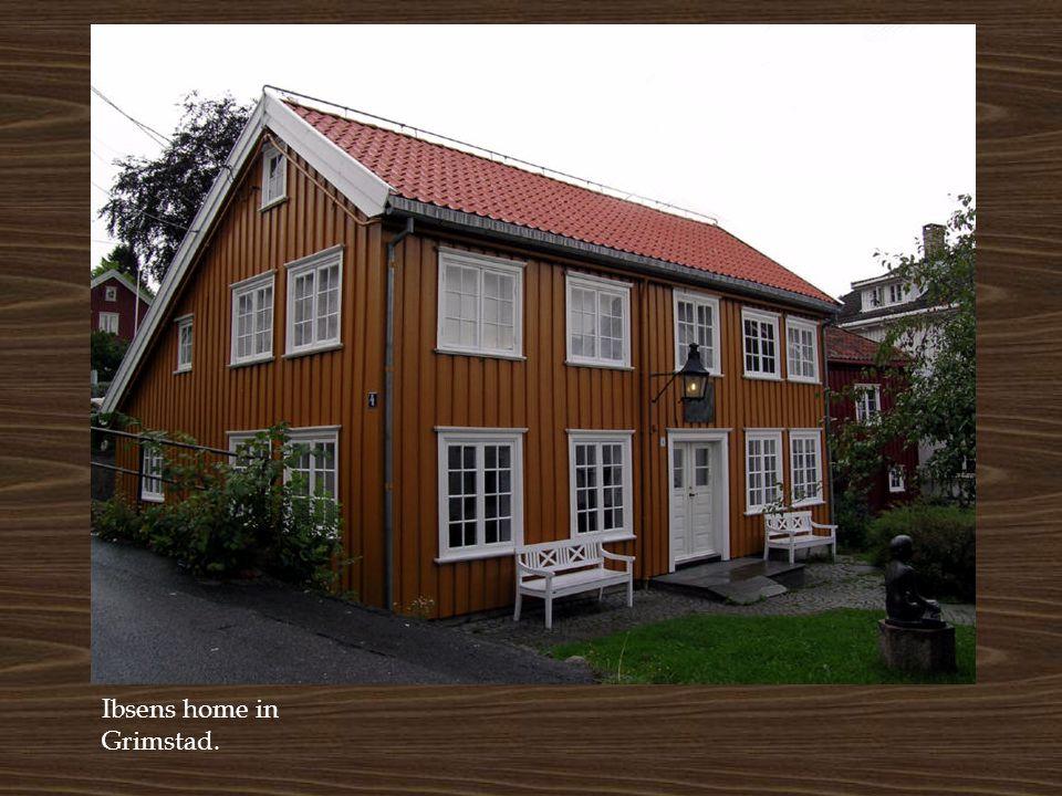 Ibsens home in Grimstad.