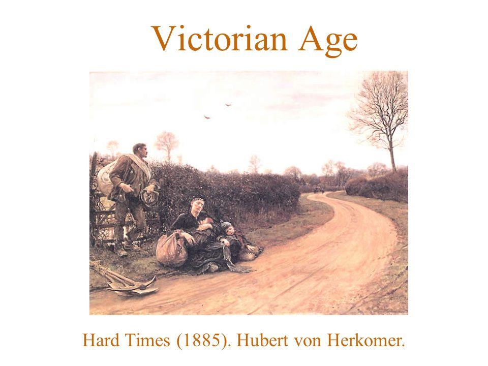 Victorian Age Hard Times (1885). Hubert von Herkomer.