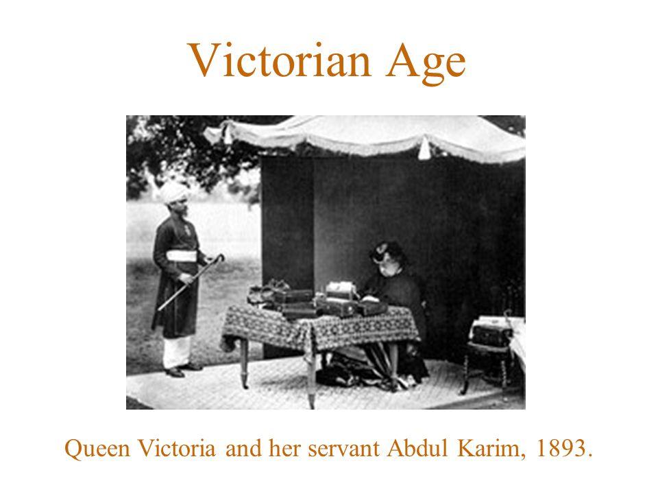 Queen Victoria and her servant Abdul Karim, 1893. Victorian Age