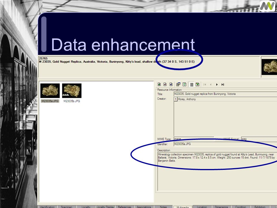 Data enhancement