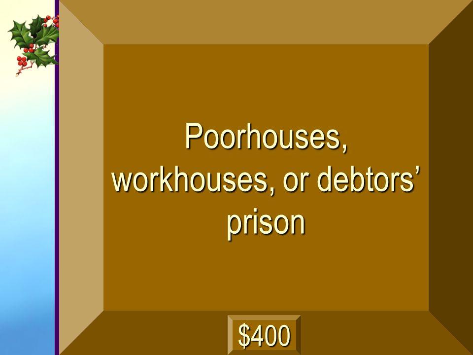 Debtors and the poor work here next