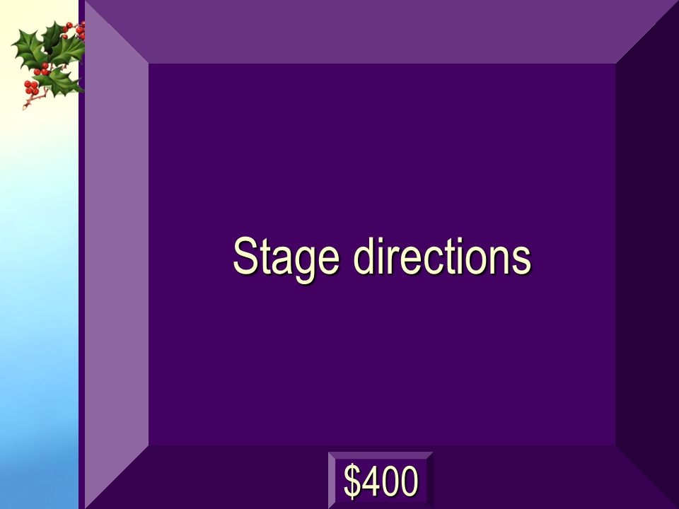 Instructions for the director, the actors, and the stage crew next