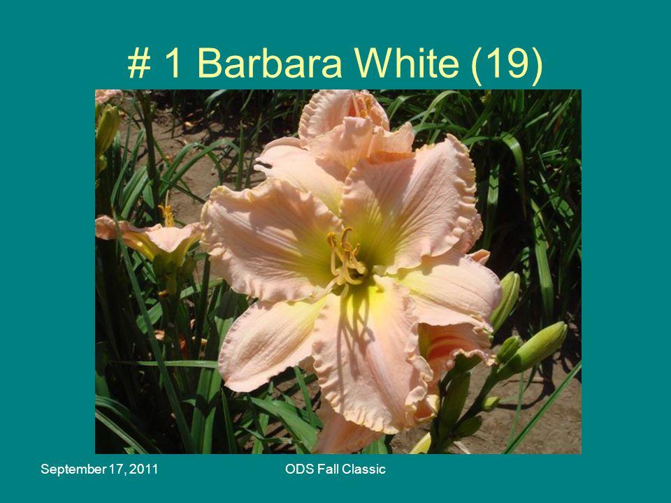September 17, 2011ODS Fall Classic # 1 Barbara White (19)