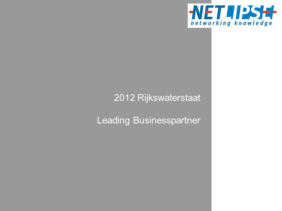2012 Rijkswaterstaat Leading Businesspartner