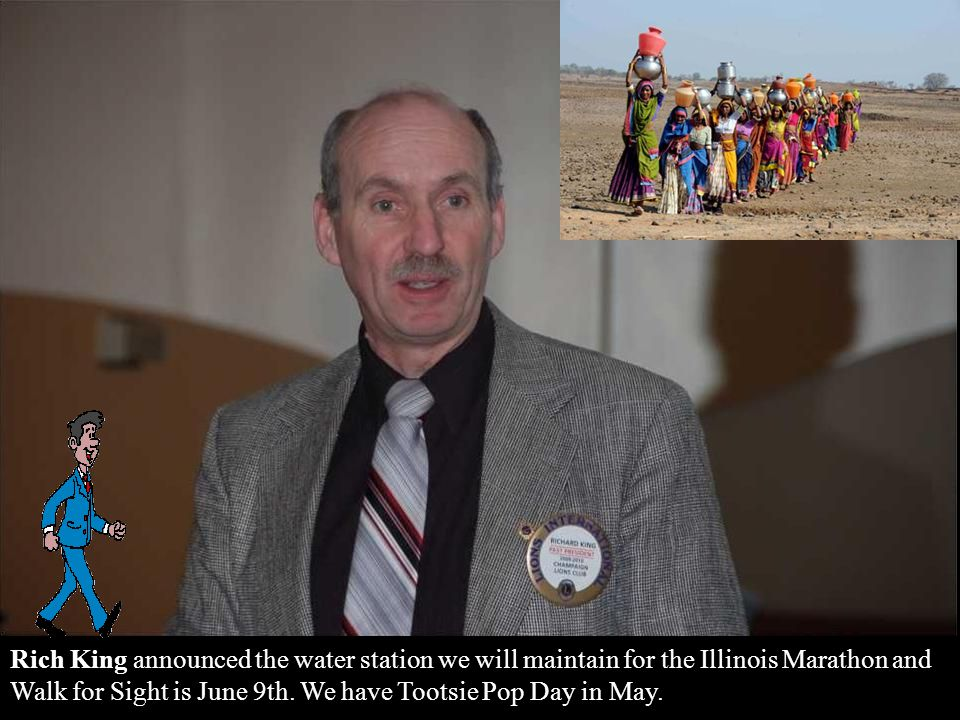 Announcements – Ted Gonsiorowski announced we still have some Sight and Sounds Sweepstake tickets; the Children's Science Museum needs volunteers.