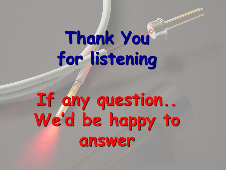 Thank You for listening If any question.. We'd be happy to answer