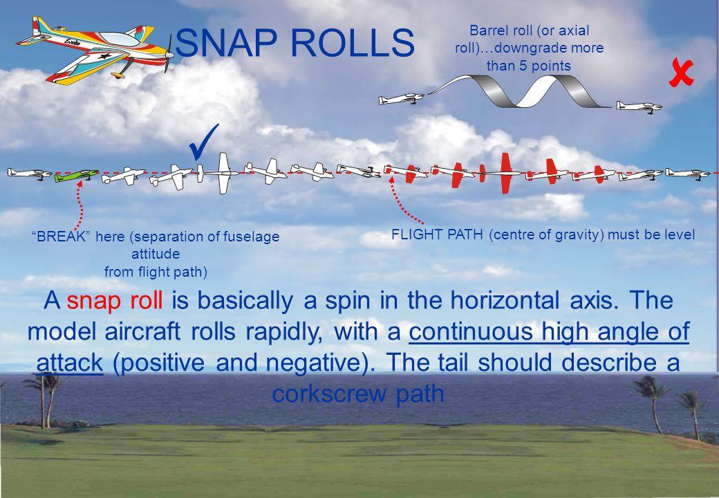 STALL TURNS Up to ½ span radius of pivot… minus 1 point.