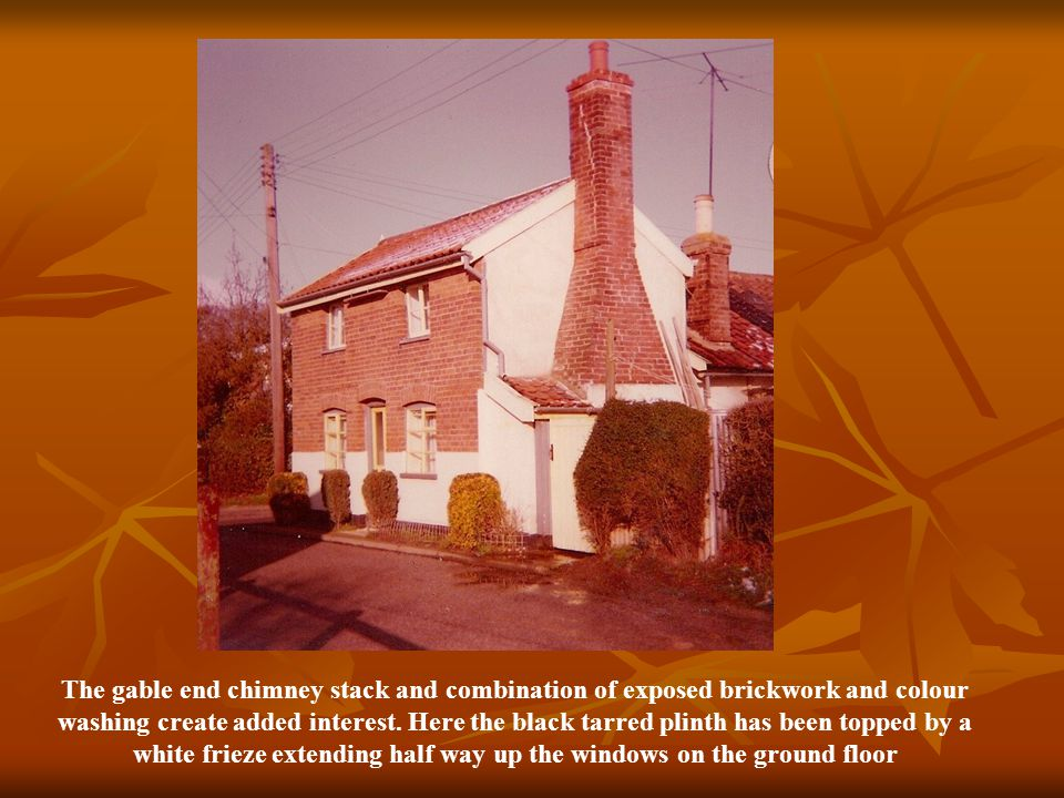 The gable end chimney stack and combination of exposed brickwork and colour washing create added interest.