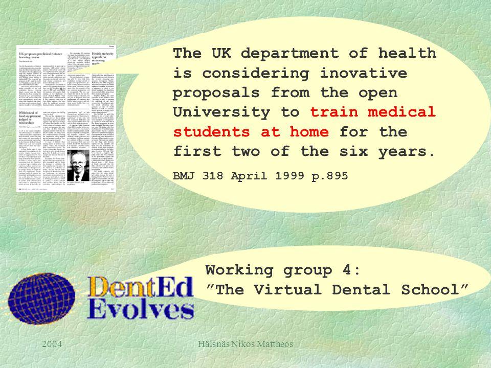 2004Hälsnäs Nikos Mattheos Dentistry.com Endodontics.com Thedentist.com Dentistzone.com Dental Resources.com Learndental.com …....