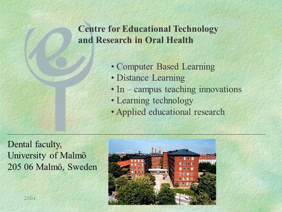 2004Hälsnäs Nikos Mattheos Information Technology in learning in learning Nikos Mattheos Centre for Educational Research and Technology Malmö Högskola
