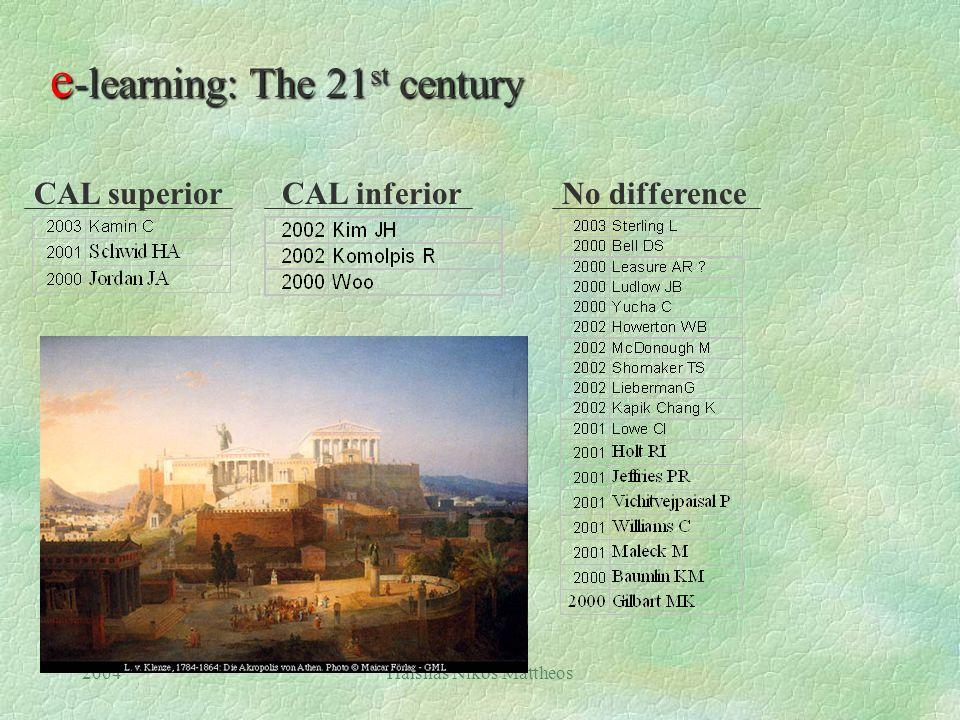 2004Hälsnäs Nikos Mattheos e -learning: The 21 st century 25 Randomised controlled trials !
