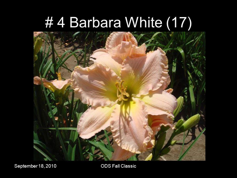 September 18, 2010ODS Fall Classic # 4 Barbara White (17)