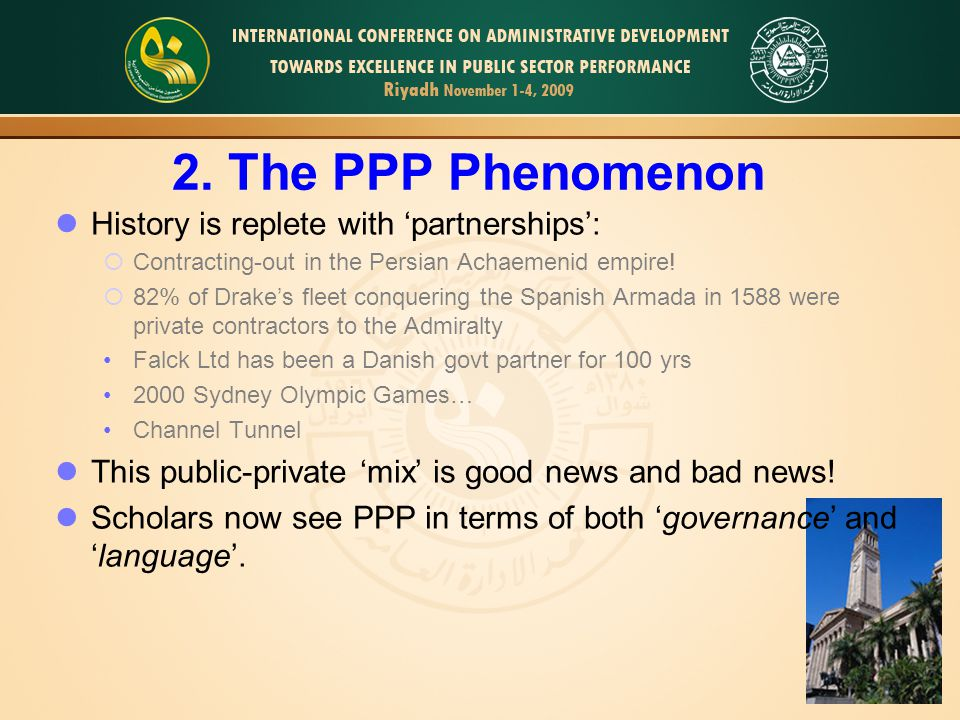 5 PPP as Governance: organisational/financial arrangts eg: PPP = 'co-operation of some sort of durability between public and private actors in which they jointly develop products and services and share risks, costs and resources which are connected with these products'; Van Ham and Koppenjan (2001, 598) 2.The PPP Phenomenon Public Policy Networks (all policy areas) Institutional co-operation (Netherlands Port Authority) Long Term I-f Contracts (UK PFIs, CityLink) Civil Society/Community Development (Europe) Urban Renewal/Downtown Eco Development (United States) PPPs exist across 5 families Long Term Infrastructure Contracts LTIC type PPPs  €200billion in Europe over past 15 years  At April '09, UK had signed up 641 contracts (£274 b nominal value … & £64b capital value )