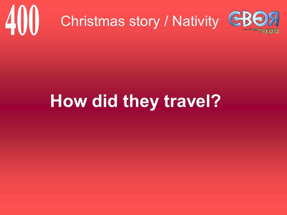 How did they travel Christmas story / Nativity