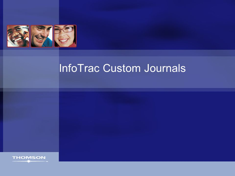 InfoTrac Custom Journals