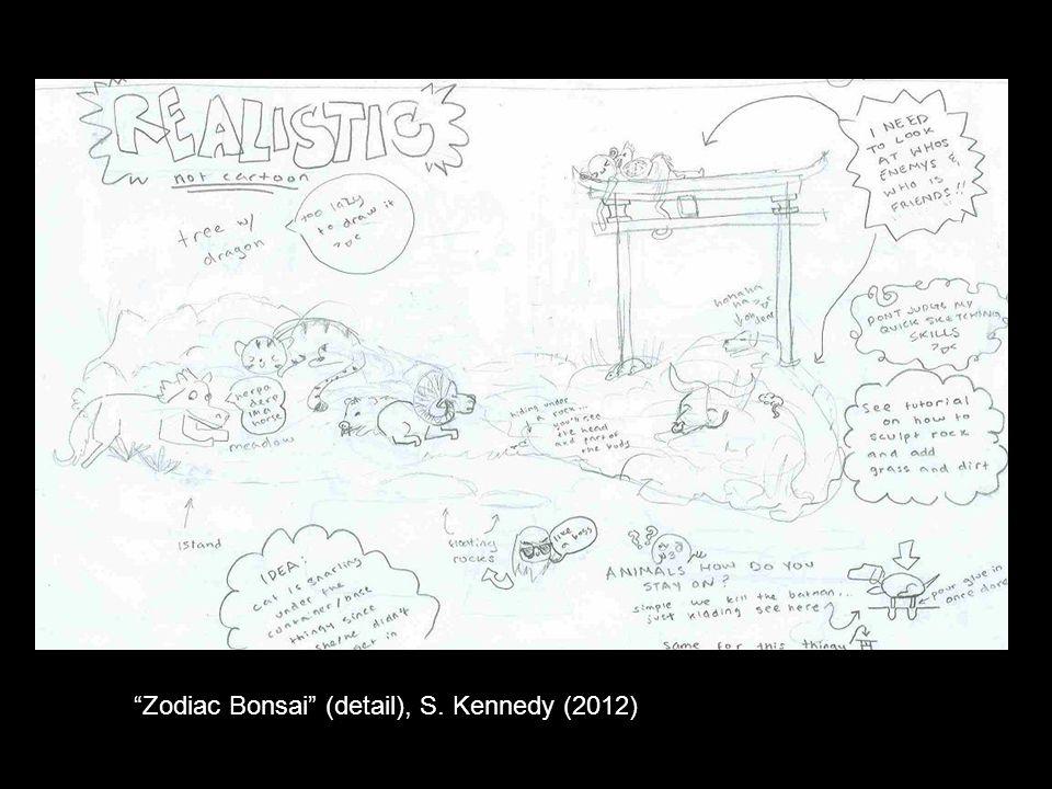 Zodiac Bonsai (detail), S. Kennedy (2012)