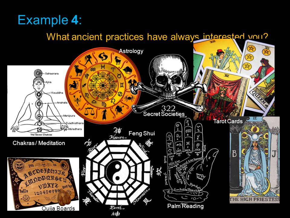 Example 4: What ancient practices have always interested you.