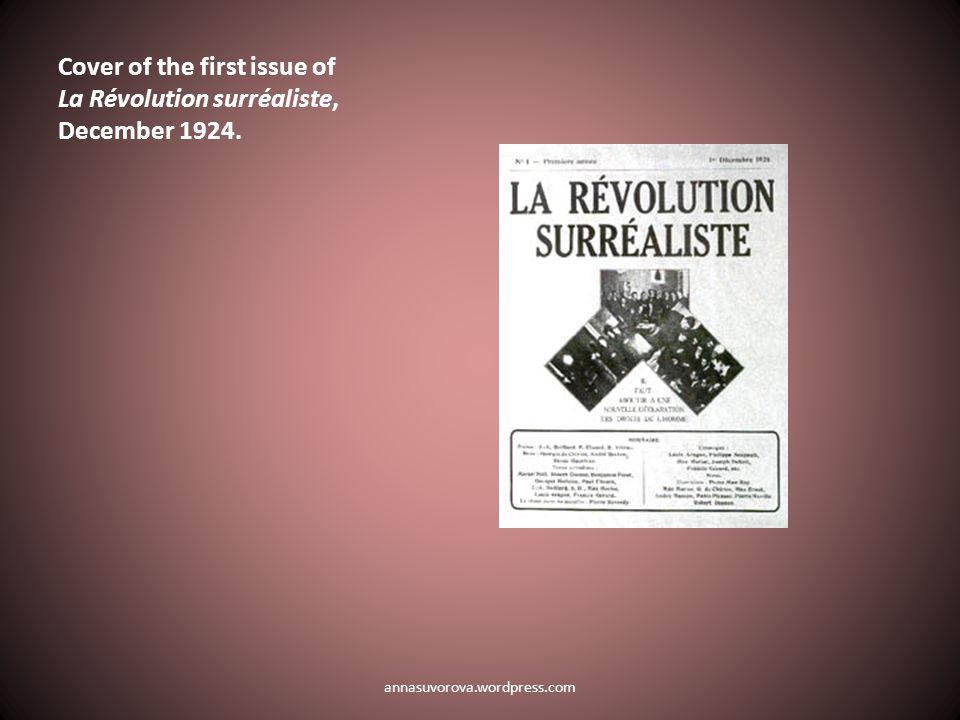 La Révolution surréaliste 12, ed.André Breton (Paris, December 15, 1929), cover.