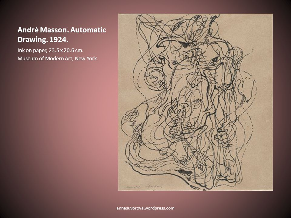 André Masson. Automatic Drawing. 1924. Ink on paper, 23.5 x 20.6 cm.