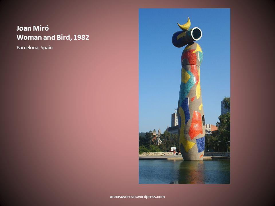 Joan Miró Woman and Bird, 1982 Barcelona, Spain annasuvorova.wordpress.com