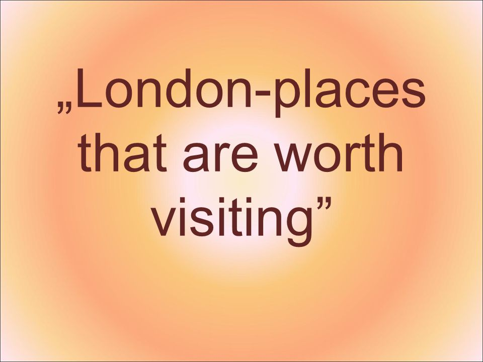 London is the capital of the UK.Is located in the south-eastern part of the country.