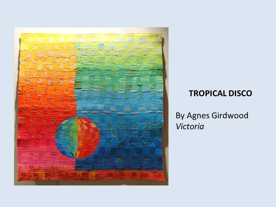 TROPICAL DISCO By Agnes Girdwood Victoria