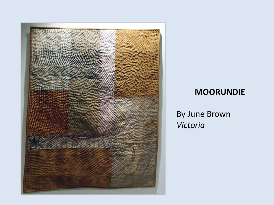 MOORUNDIE By June Brown Victoria